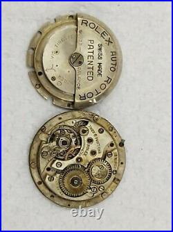 1930s ROLEX PERPETUAL MOVEMENT AUTO ROTOR DIAL & HANDS PARTS / RESTORE / PROJECT