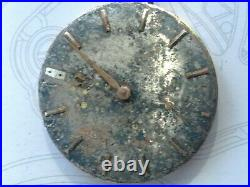1962 Omega 268 Hand Wind Movement With Dial. For Parts/restore. Sold As Is