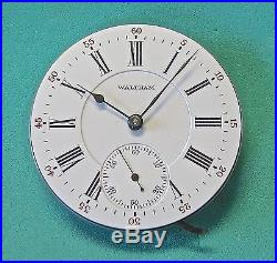 21 jewel 1892 WALTHAM Model 845 HUNTING MOVEMENT complete with dial, hands &