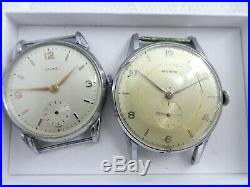 2x invecta Handaufzug Uhren Unruhe good movement gebraucht for parts (Z652)