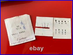 3 x Cartier 21 xl Hand set H+ M+S va 110062 watch parts
