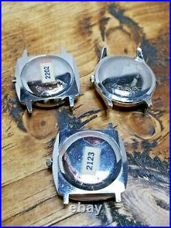 3 x Rare Benrus Sea Lord Dealer Sample Watch Cases with Dial & Hand Parts (CV11)