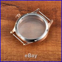 44mm Corgeut Watch Gold Case Fit ETA 6498 6497 Hand Winding ST3600Mov't G2002