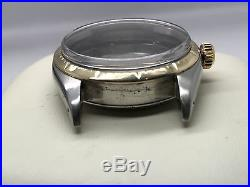 67s Vintage Rolex 6582 Zephyr 14k/ss Case/dial/hands Spare / Parts