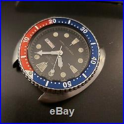 84' SEIKO 6309 7040 TURTLE PEPSI PROJECT WATCH With DIAL HANDS WATCH 480212