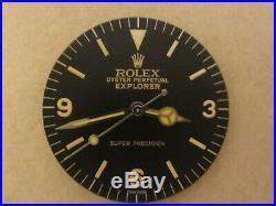 AGED Rolex #5500 SUPER PRECISION EXPLORER Tropical Repaired Dial + Hand-Set