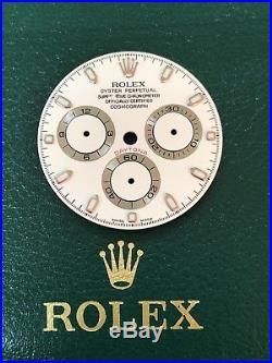 AUTHENTIC Factory Rolex Daytona 116520 DIAL & Hands White PARTS Defect A22