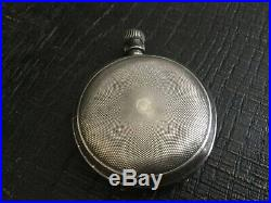 A. W. Co. Waltham Mass. Bond St. Pocket Watch FOR PARTS NO GLASS NO HANDS AS IS