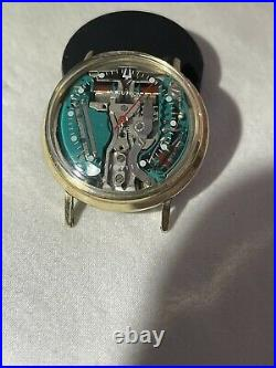 Accutron spaceview 214 gold filled for parts or fix hour & minutes hands missing