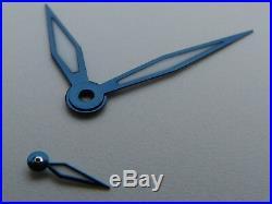 Aiguilles ACIER BLEUI Superluminova BGW9 BLUED STEEL hands Unitas ETA 6497 6498