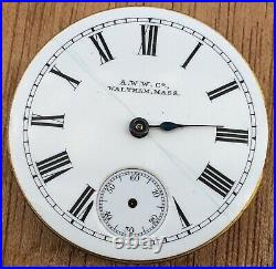 American Waltham Watch Mass No Funziona For Parts Hand Manuale 29,5 MM A. W. W