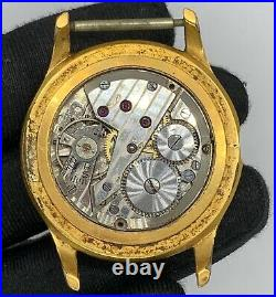 Anew Hand 3720 Manual Vintage 36 mm Swiss Doesn'T Works For Parts balance Roto