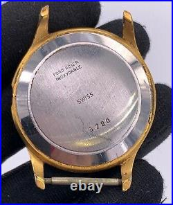 Anew Hand 3720 Manuale Vintage 36 mm Swiss No Funziona For Parts bilanciere Roto