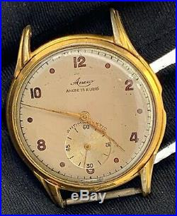 Anew hand 3720 manual vintage 36 mm swiss NO Funciona for parts volante roto