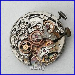 Angelus Cal 215 Chronoraph Movement Original Dial Hands Parts Repairs Watchmaker