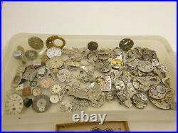 Antique 1.65LB Wrist Pocket Watch Parts Repair Hands Omega Buckles Gruen Timex