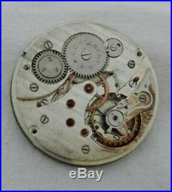 Antique CORTEBERT, Pocket Watch Parts Only. Nice dial and hands