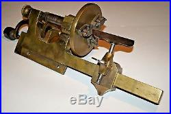 Antique Clockmakers Horologists Brass Hand Crank Watchmakers Lathe Missing Parts