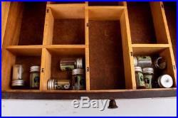 Antique Elgin Advertising Case & Parts Mainsprings Hands Cams screws 1000+ NOS