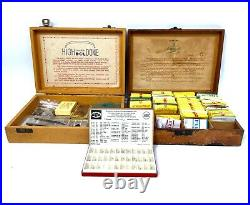 Antique Job Lot of Watch Repair Parts / Hands / Glass / In Boxes / Vintage Clock