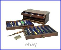 Antique Job Lot of Watch Repair Parts / Watchmakers Tool Kit in Wooden Box Chest