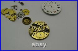 Antique Zenith Trench Watch Enamel Dial Spare Parts&Repair Hand Winding