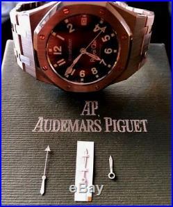 Audemars Piguet Royal Oak Autom Ref14790 Military Dial Hands Hour min and sec