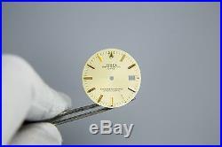 Auth Rolex Date Champagne Tritium Stick Dial + Hands Non Quickset 1500 1505