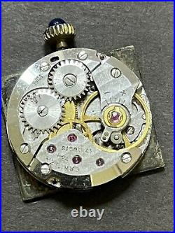 Authentic CARTIER 17 Jewels Movement Dial Black Hand Wind Repair Parts R