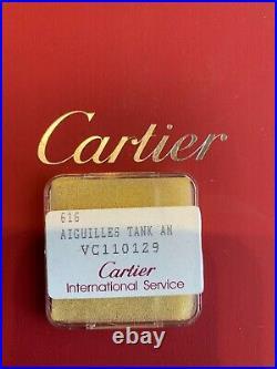 Authentic CARTIER Aiguilles Tank Watch Hand Set watch parts VC110129