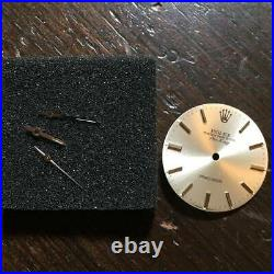 Authentic Rolex Watch Air King 5500 Silver Dial Parts & Hands Set w436920895