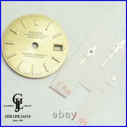 Authentic Rolex Watch Datejust Gold Dial and Hands Set Parts 69173 e509811285