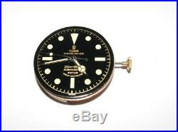 Authentic Tudor 390 Movement with Repainted Dial and Hands, FOR Submariner 7924