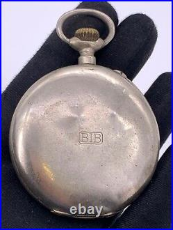 Bib Cal. 29331 Hand Manuale Vintage 52,8 MM No Funziona For Parts Pocket Watch