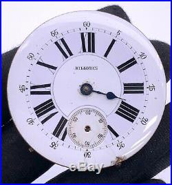 Billodes Hand Manual Vintage 45,2 MM Doesn'T Works For Parts Pocket Watch