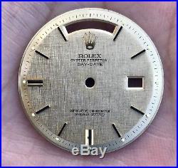 Brand New Rolex Day-Date President 1803 1807 Pie-Pan Linen Dial & Hands