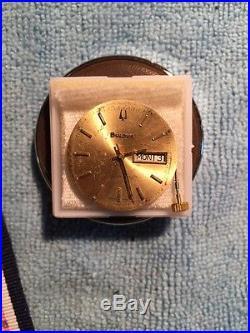 Bulova Automatic MOVEMENT WATCH ETA 2836 Gold Dial, Hands, Crown Stem