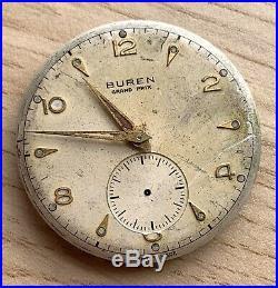 Buren Grand Prix Cal. 467 Hand Manual 31,5 mm NO Funciona for parts swiss watch