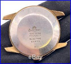 Buser Freres Cal. B180 hand manual vintage 37,5 mm NO Funciona for parts