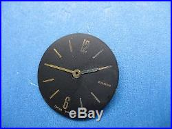 Bvlgari Bb26gl Parts Dial/hands Ladies Watch Black Dial/gold Pl Hands & Markers