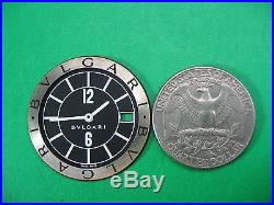 Bvlgari Solotempo St29s Parts Dial & Hands Ladies Watch S/s Black Dial As Is