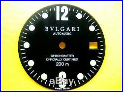 Bvlgari Swiss Made Diagono Automatic Parts Dial & Hands Men`s Watch Chronograph