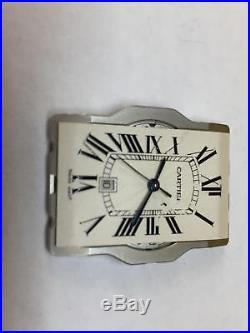 Cartier Tank Americaine Dial, Hands, Movement Holder & Cal 120 Movement