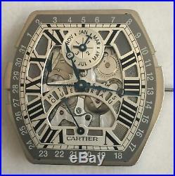 Cartier Tortue Perpetual Calendar Movement, Dial & Hands