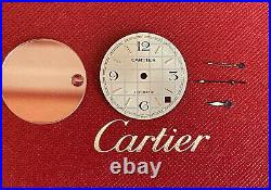 Cartier Watch Dial Crystal and Hands. Genuine Cartier Automatic Watch parts