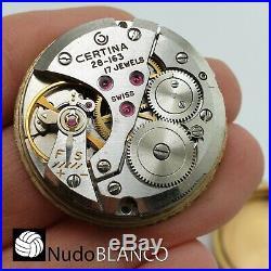 Certina Biostar Watch Manual Wind Dial Hands For Parts Balance Ok