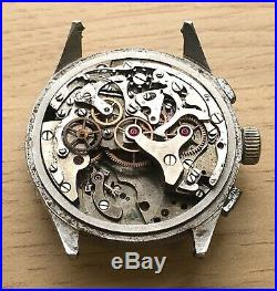 Charles Nicolet Tramelan Chronograph Doesn'T Works For Parts Hand Manual 37mm