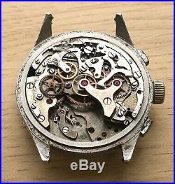 Charles Nicolet Tramelan Chronograph NO Funciona For Parts Hand Manual 37mm