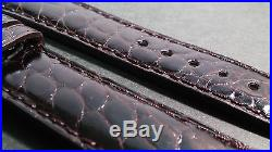 Chopard Band, Shiny Dark Brown, 18/16mm, Hand-Stitched, Alligator, 105/70 length
