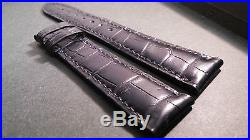 Chopard Band, padded Black, 20/16mm, Hand-Stitched, Alligator, 115/80 lengths